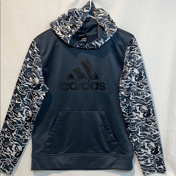 Adidas Other - Adidas Gray Boys Hoodie Top Jacket Hooded
